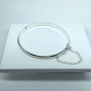 Bracelete Liso Folheado a Prata