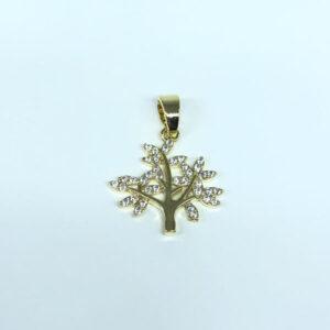 Pingente Árvore da Vida Folheado a Ouro 18k