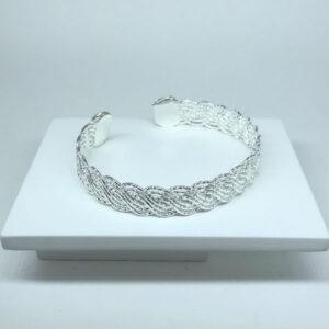 Bracelete Trançado Folheado a Prata
