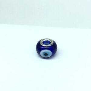 Berloque Separador Olho Grego Azul Folheado a Prata